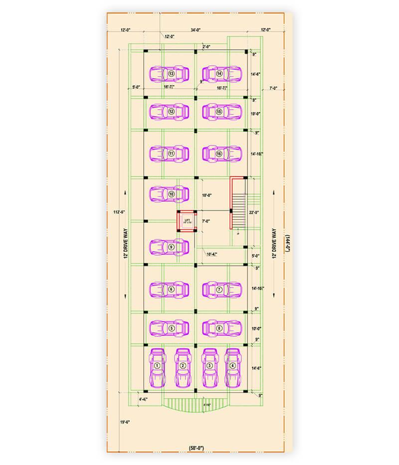Parking floor plan karaikudi properties karaikudi for Trademark quality homes floor plans